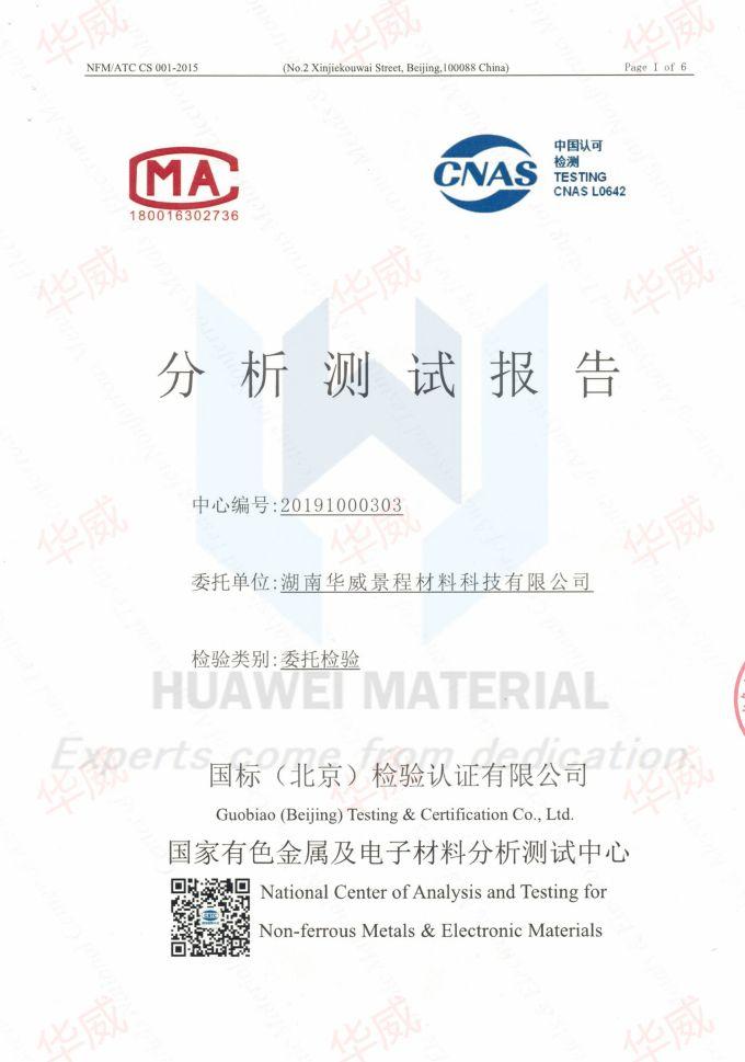 hafnium dioxide HfO2 Inspection report 1 20191015 (1)
